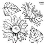 Sunflowers Stamp (2 Sheets)