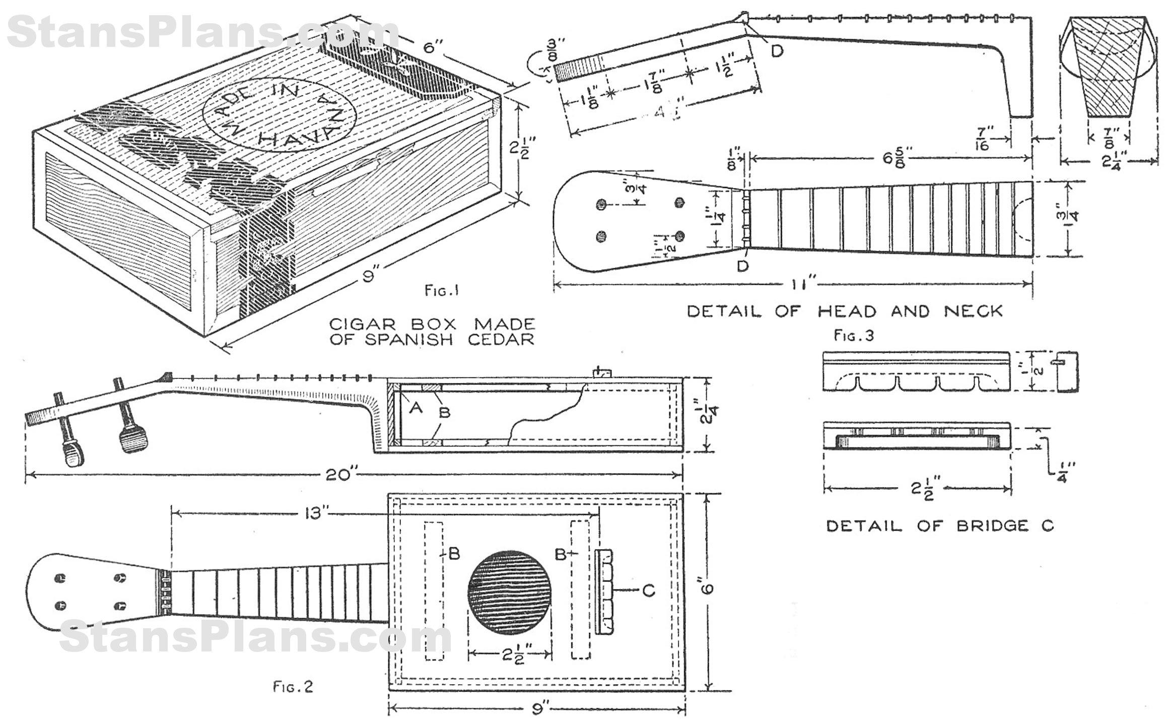 Printable Plans for a Homemade Ukulele