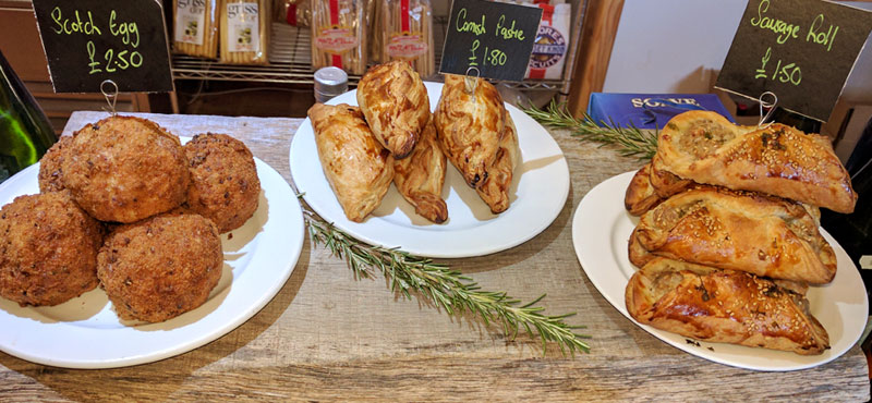 Scotch eggs, pasties & sausage rolls