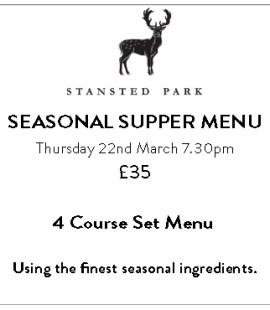 Seasonal Supper Menu - 22 March 2018