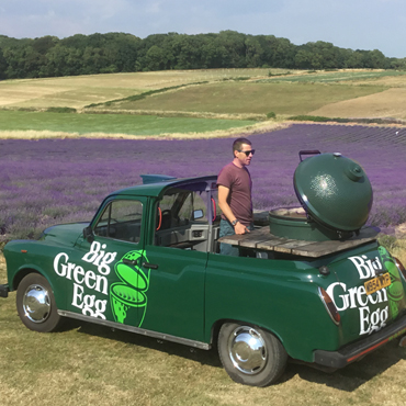 Big Green Egg at Lordington Lavender