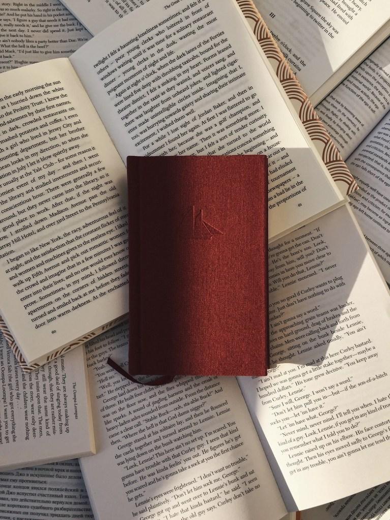 Comma splice - image of books lying open