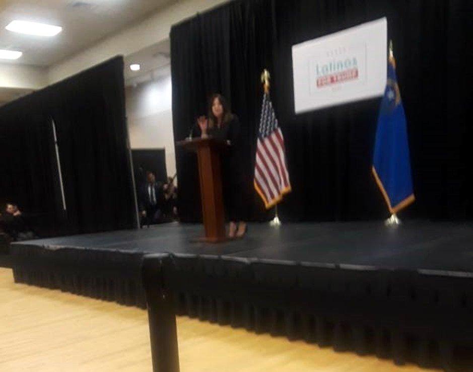 Karen Pence on stage
