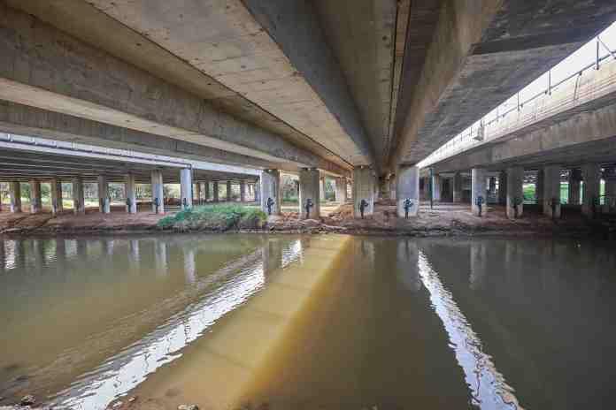 Under Ayalon Bridge