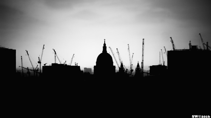 St. Paul's and cranes
