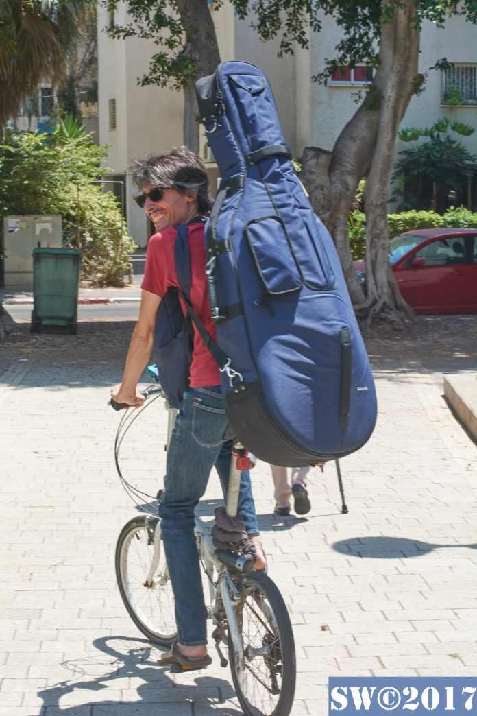 Cellist on bike 1