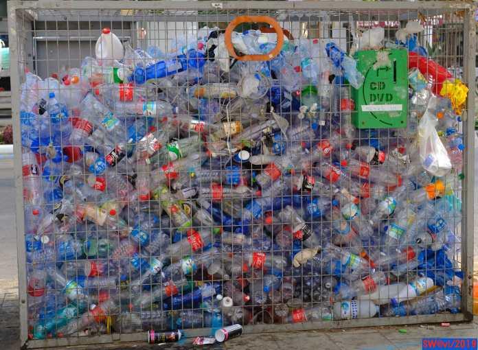 Plastic bottle cage