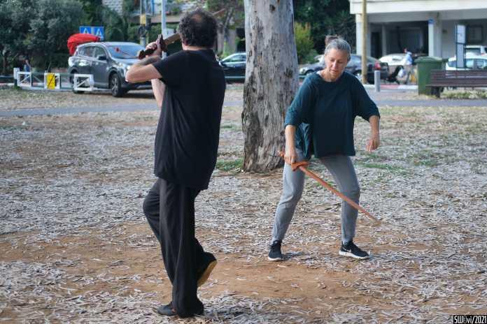 Tai-chi sword dance