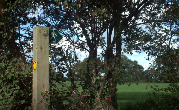 One of many public footpaths in the area
