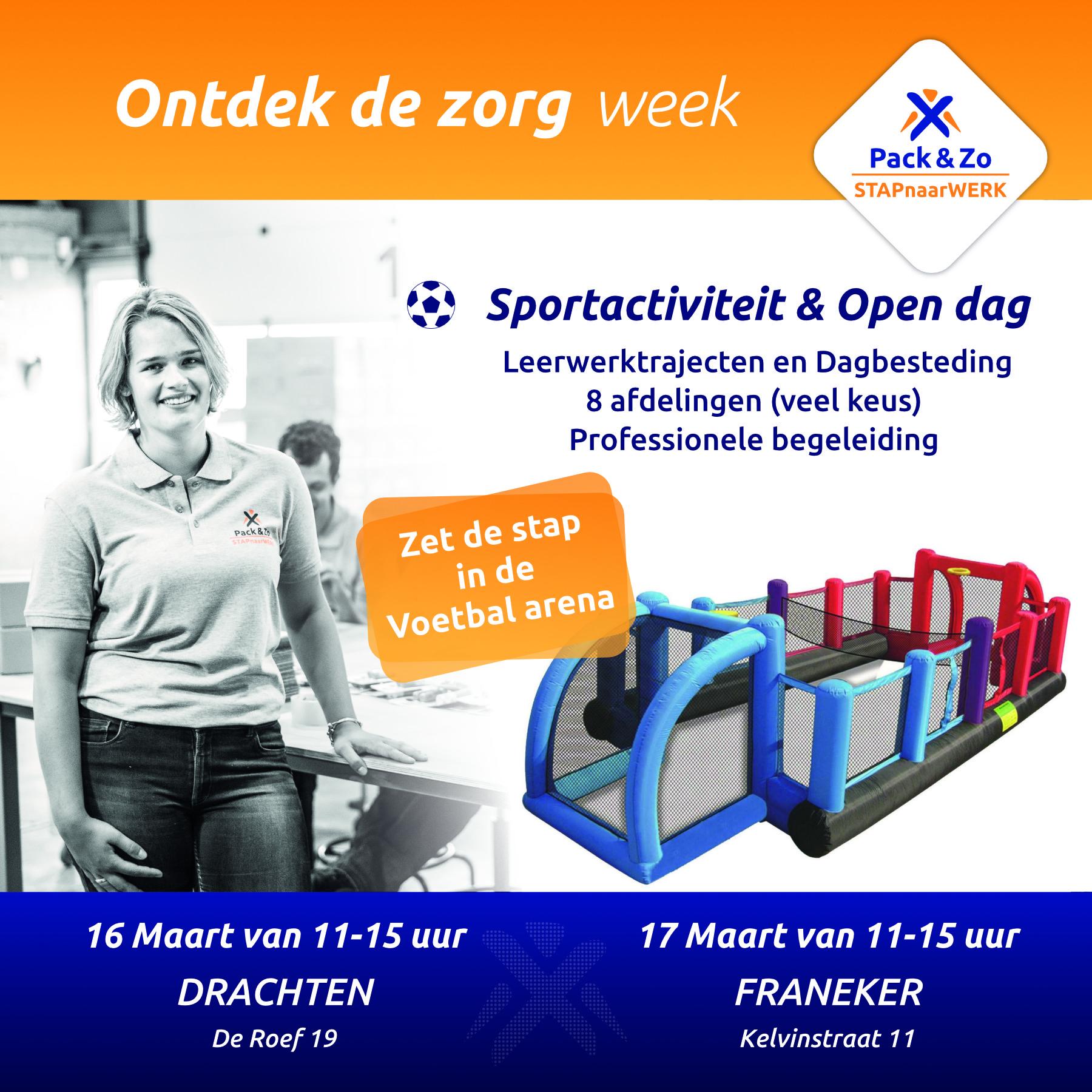 Advertentie uitnodiging opendag en sportactiviteit 16 maart drachten en 17 maart franeker
