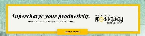 This is a text banner advertising a productivity bundle.