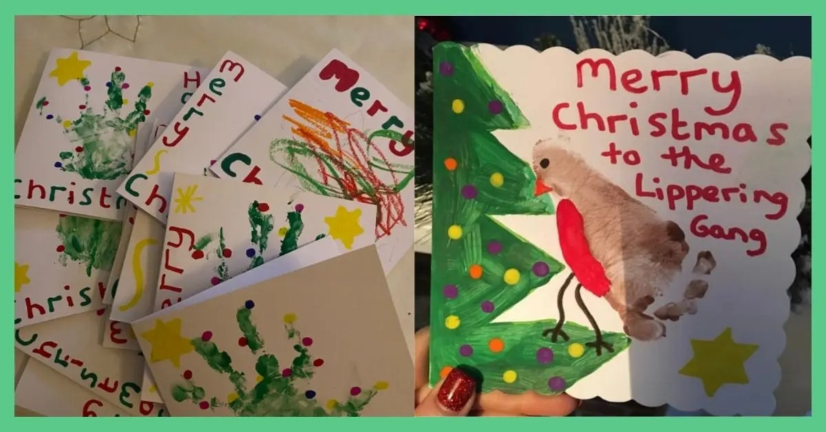 Christmas cards for kids - easy craft ideas