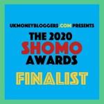 UK money bloggers SHOMO finalist
