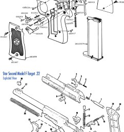exploded view of star model f pistol [ 1211 x 2396 Pixel ]