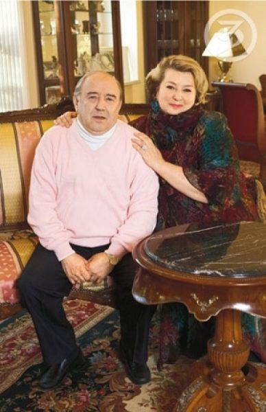 Татьяна Тарасова с мужем Владимиром Крайневым