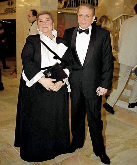 Александр Масляков с женой