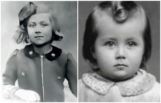 Эдита Пьеха в детстве. Фото