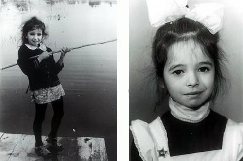 Балерина Диана Вишнева в детстве. Фото
