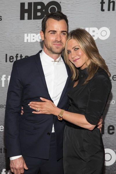 Дженнифер Энистон с мужем Джастином Теру