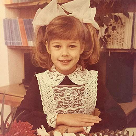 Катерина Шпица в детстве. Фото