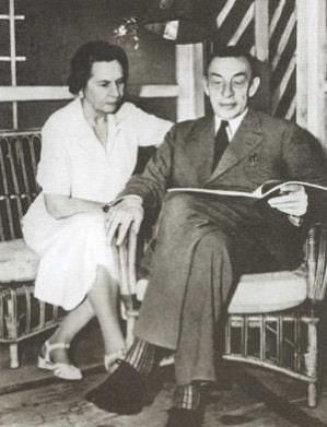 Сергей Рахманинов с женой Натальей