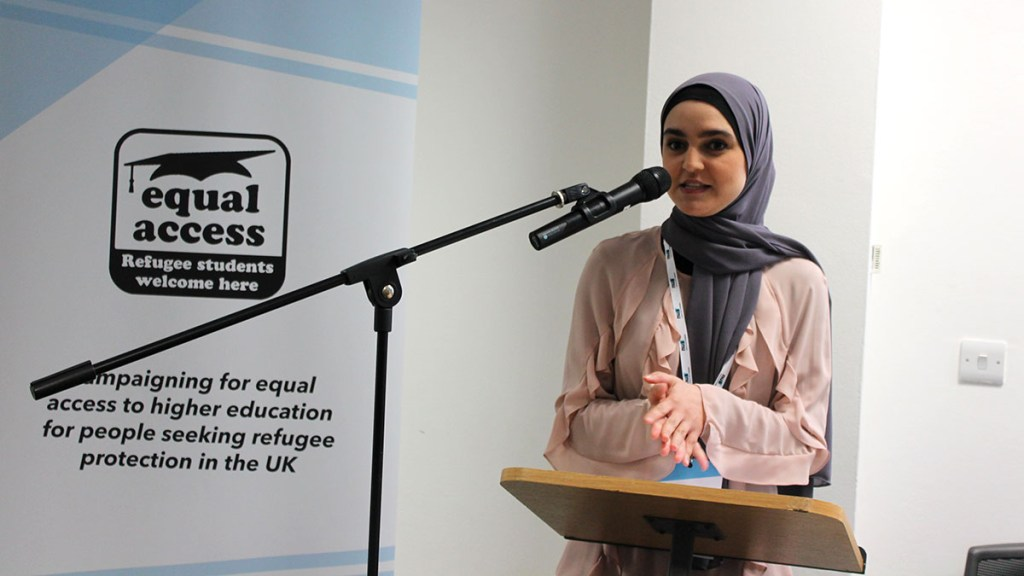 Equal Access Activist, Maryam, speaking at the Equal Access conference in 2019.