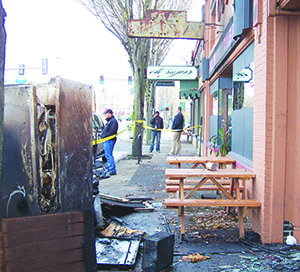 Pal's Shanty suffered significant damage during a November 15 fire. (Lou Krohn)