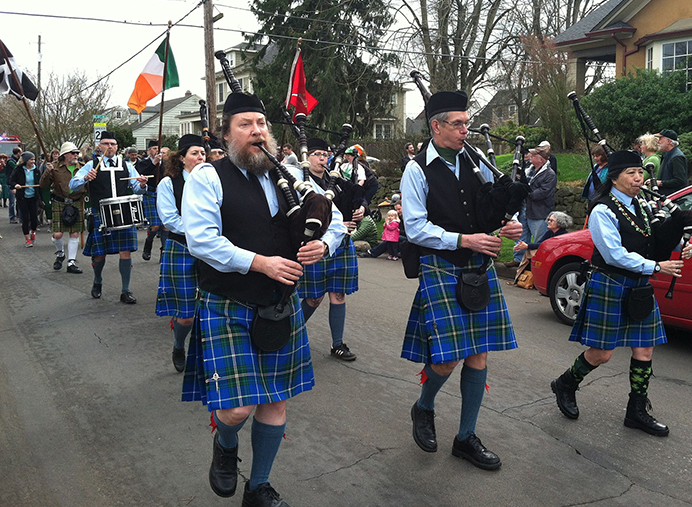The 27th annual Northeast Neighborhood St. Patrick's Day parade will travel along neighborhood streets, on March 13 – the first day of daylight saving time – with the theme of 'Leaping and Springing Ahead in Green.' (Jane Perkins)