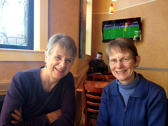 Margaret Lovejoy Baldwin (left) and Joan Malling are spearheading the Village movement in Northeast Portland. (James Bash)