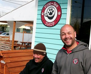 The Pawfee Shop partners, Marcelo Cruz and Jeff Garvais, are delighted with how they've turned a once-abandoned property into a neighborhood destination. (Phill Colombo)