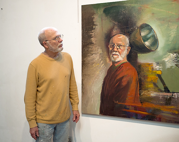 Local artist Bill Park shows how life imitates art with a self-portrait he's perfected since starting to seriously paint in 1983.
