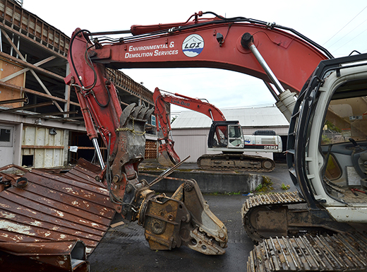 Last June, bulldozers took down an old building on Northeast Glisan Street to make way for a new 30-unit housing residence for Providence Portland patients and families. (Providence Portland Medical Center)