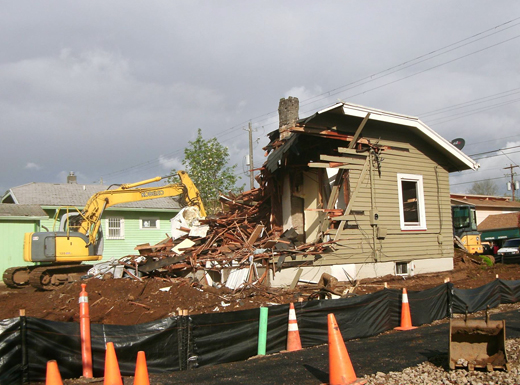Time ran out for this single family home on N.E. 51st Ave. at Fremont Street. (Phill Colombo)