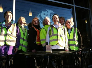 Winter: The Beaumont Ladies Walking Group, decked out for winter, includes, from left, Isabelle Zifcak, Carol Turner, Karyl Whelan, Ann LaBray, Anne Kelly Feeney, Karen LaCrosse and Judy Thodos. (Ted Perkins)