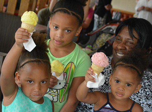 Albina Community Bank launched an innovative BizMob program in August, designed to promote the bank's local, business customers. The last event of the month was held at Rose's Ice Cream in the Cully neighborhood. (Mary Edmeades/Albina Bank)