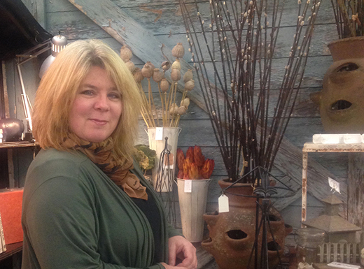 Sisters Dee Dee Ploog, pictured, and Michelle Berlin have opened Found and Floral, a home decor and gift shop, in the 42nd Street Station building in Hollywood. (Found and Floral)
