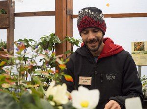 Garden Fever employee Joshua Maxwell enjoys tending to plants and encourages customers to store bulbs during the winter for spring planting. Maxwell began working at Garden Fever two years ago.
