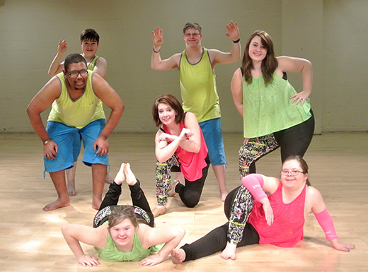Members of the Inclusive Arts Vibe Dance Company, which is the Disability Art and Culture Project's dance company. (James Bash)