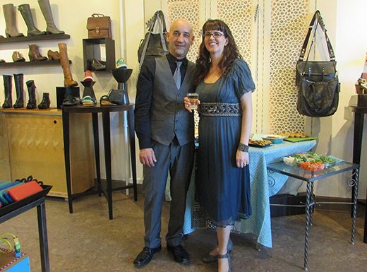 Zaki Hadfid, left, and Liz Page have relocated their stylish, neighborhood shoe shop, Amenity Shoes, just around the corner from their original store – to a larger, brighter space in the Beaumont Village Building. (Jane Perkins)