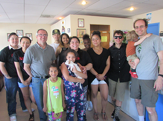 The balance of the space, if any, could be leased to other tenants. The Spevak and Landtiser families met with Evans and his sister at the restaurant on Monday, May 2 to sign the necessary papers. (Ted Perkins)