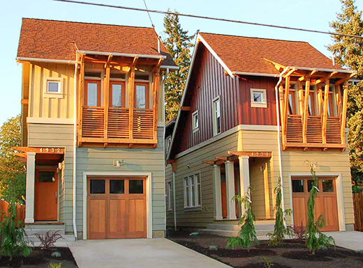 Different types of housing for infill to cope with increasing population is one of three topic areas considered by the Stakeholder Advisory Committee in addition to smaller houses and developing smaller lots. An open house on July 14th will review draft proposals. (Portland Bureau of Planning and Sustainability)
