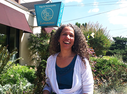 Naturopathic physician and yoga instructor Laura Washington has opened Luminance Yoga & Naturopathy in the former Amenity Shoes space in Beaumont Village. (Jane Perkins)