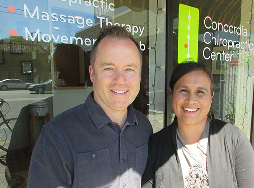 Jason and Melissa Lindekugel's Concordia Chiropractic Center celebrated ten years of business this year. (Ted Perkins)