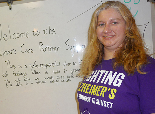 Rachel Levy is facilitator for a Sunday support group for caregivers of people with Alzheimer's disease. (Janet Goetze)