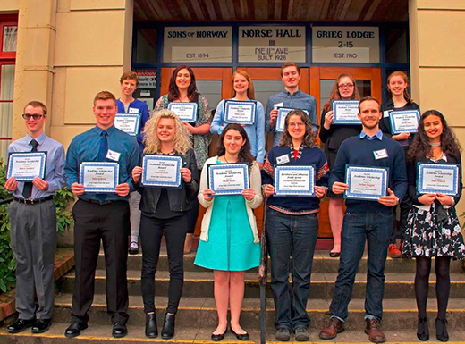 Sons of Norway award scholarships to 15 students