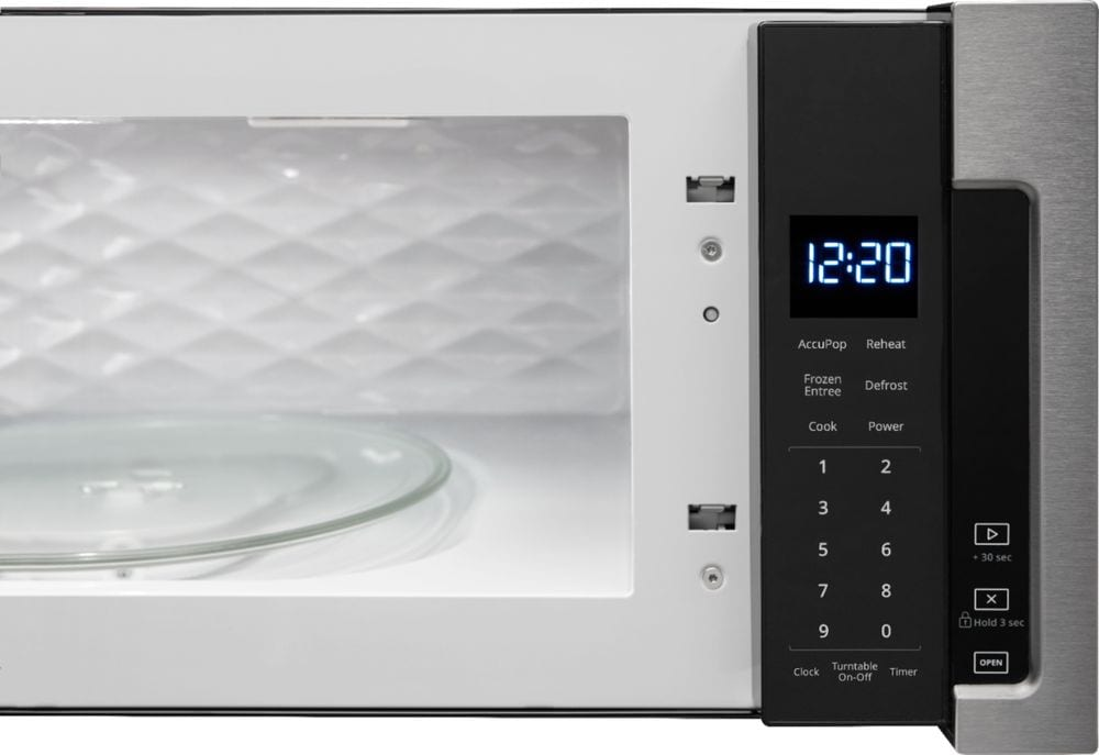 1 1 cu ft low profile over the range microwave hood combination stainless steel