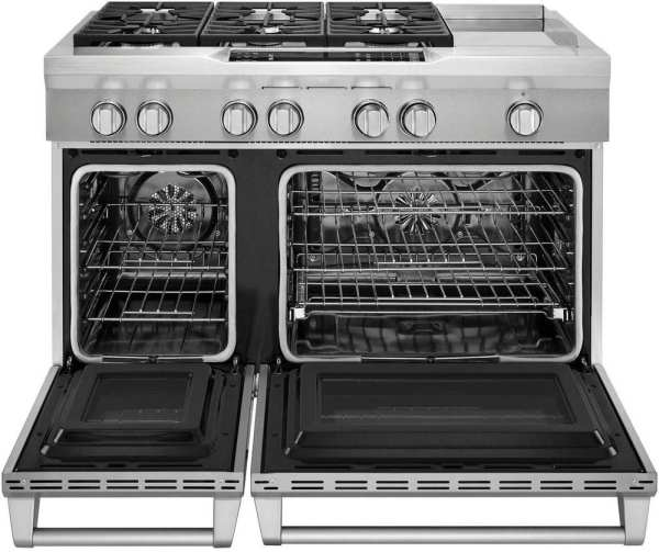 6.3 Cu. Ft. Self-Cleaning Freestanding Double-Oven Dual Fuel Convection Range