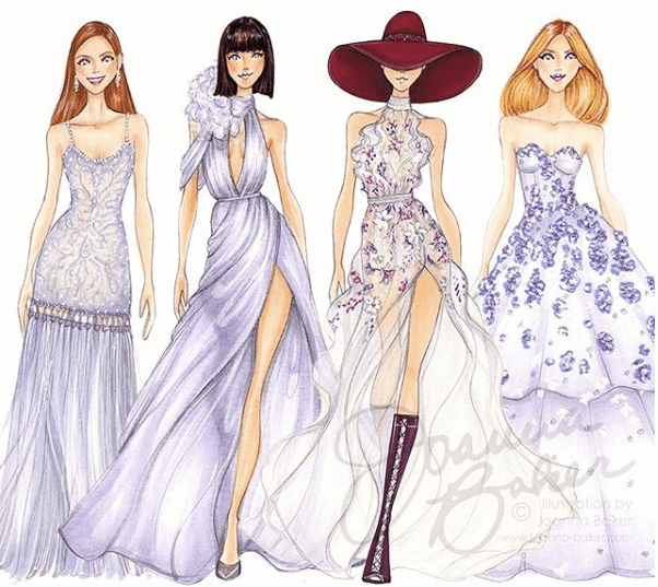 Going To The Drawing Board With Fashion Illustrator Joanna Baker Red Hook Star Revue