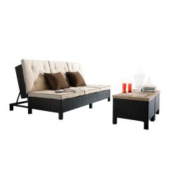 Sofa And Chaise Lounge Set Chesterfield Historia Sirio Euro Patio Double Starsong