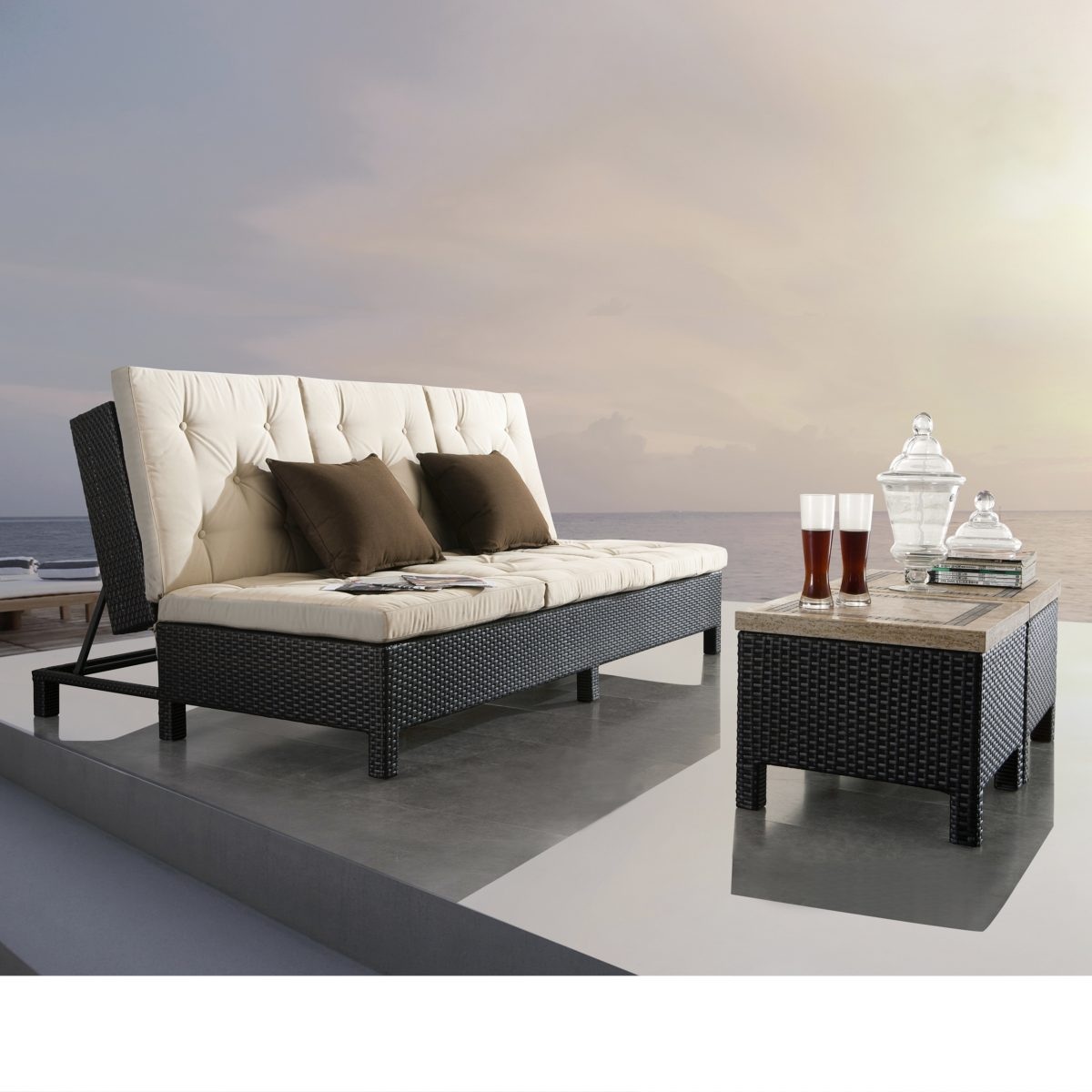 sofa and chaise lounge set white company sirio euro patio double starsong